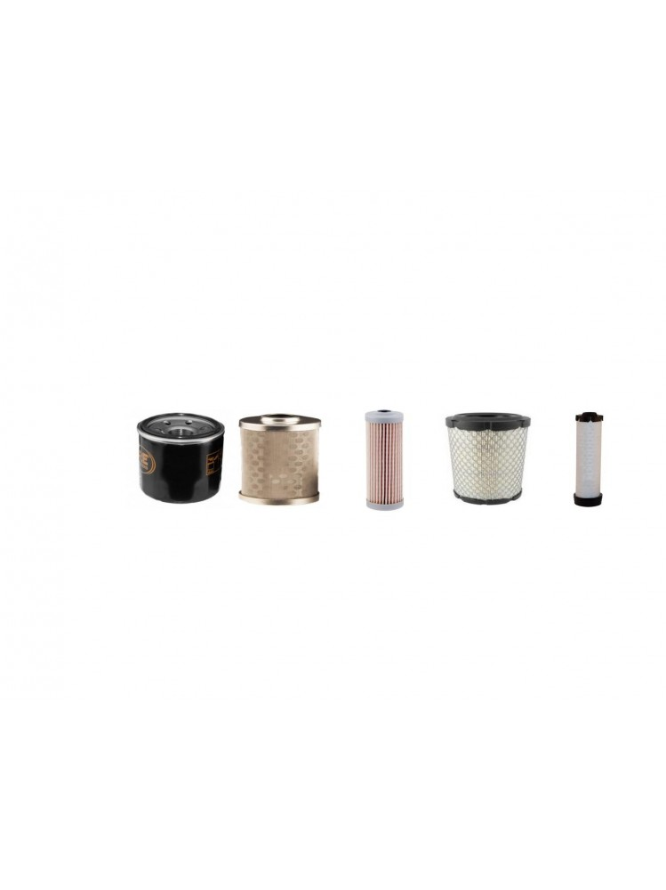 Filter service kit suitable for Cat 3014C with Yanmar 3TNV76 Eng.Air Oil Fuel