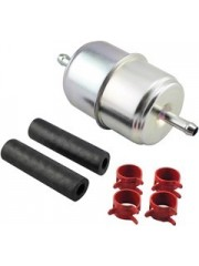 Baldwin BF833-K2, In-Line Fuel Filter with Clamps and Hoses