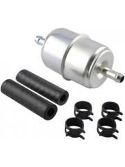 Baldwin BF840-K1, In-Line Fuel Filter with Clamps and Hoses