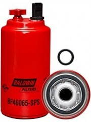 BF46065-SPS Fuel/Water Separator Spin-on with Drain, Sensor Port and Reusable Sensor