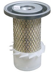 Air Filter Elements with Fins and Lids