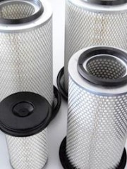 Air Filter Cartridges for Vacuum Pumps both sides open - with cover - both sides seals