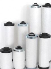 Separators for Vacuum Pumps cylindrical design with adaptor- valve
